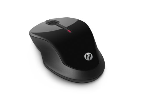 HP X3500 (H4K65AA) kabellose Maus (1.600 dpi, 3 Tasten, Scrollrad, USB dongle) schwarz