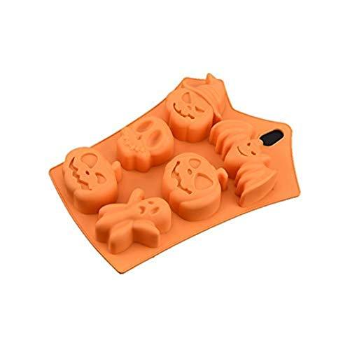 Makwes 6 Cavity Orange Red Kuchenform dauerhaft wiederverwendbar Silikon Manuelle DIY Seife Kuchenform, Schokoladenform, Süßigkeitform, Kuchenform, Backform (Halloween-süßigkeiten Zum Verkauf)