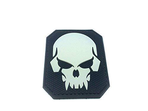 Patch Nation Piraten-Totenkopf Schwarz PVC Klett Emblem ()
