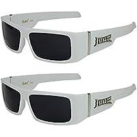 X-CRUZE® 2er Pack Locs 9078 X 05 Sonnenbrillen Unisex Herren Damen Männer Frauen Brille - 1x Modell 01 (schwarz glänzend/schwarz getönt) und 1x Modell 05 (weiß glänzend/schwarz getönt) 3Z6Caa