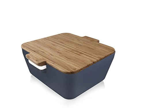 Tomorrow`s Kitchen Bread & Dip Denim Brotdose, Kunststoff, Blau, 10.6 x 24.1 x 23.8 cm 3-Einheiten