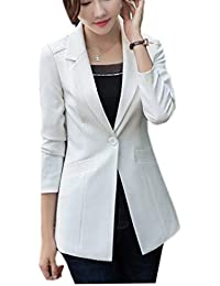 hot sale online 2994a 579cb Amazon.it: Taglie Forti Donna - Bianco / Tailleur e giacche ...
