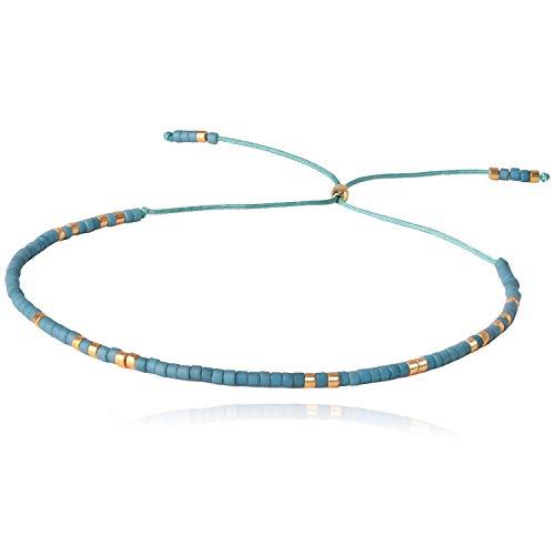 KELITCH Winzige Strand Armbänder Seil Handgewebte Samen Perlen Armbänder Schnur Schnur Armbänder für Frauen (H)