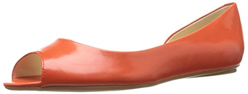 Nine West Bachloret Cuir Chaussure Plate Orange