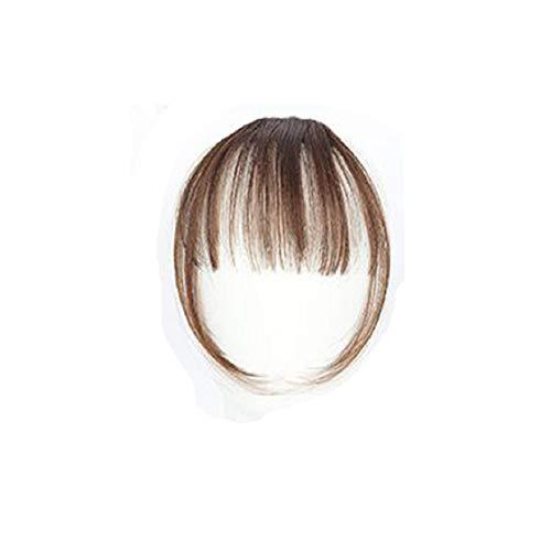 Barlingrock Mini Air Horns Perücke Hübsche Mädchen Clip Auf Clip In Front Hair Pony Dünne Fransen Haarverlängerung Stück Haarverlängerung für Frauen 14 CM / 5,5 '