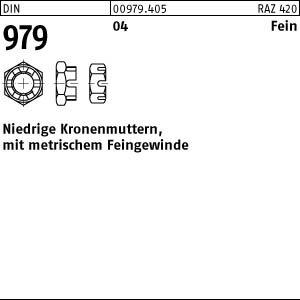 1 Kronenmuttern DIN 979 04 M52x3 Stahl