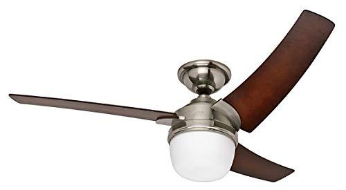 Hunter 50611 Eurus ventilador de techo Ø 137 cm, con luz, níquel satinado