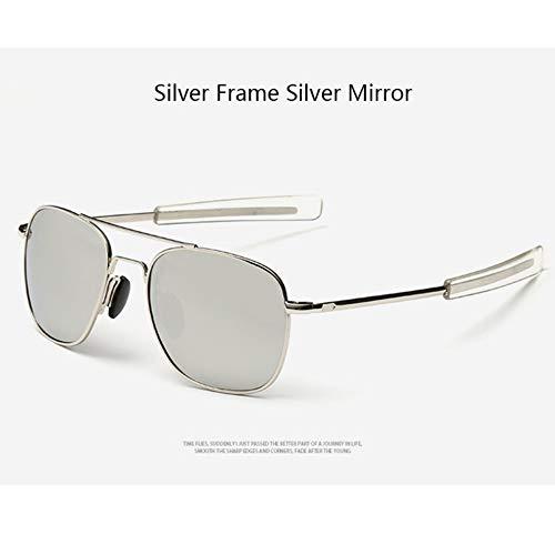 Sonnenbrillen Amerikanische Armee Militärische Piloten Sonnenbrille Mens Marke American Optical Polarisierte Sonnenbrille Outdoor Reisen Sommer Staub Uv400 Silber
