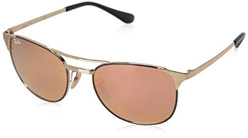 Ray-Ban Herren Sonnenbrille Rb 3429m Gold/Black/Copperflash 55