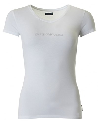 Emporio Armani Underwear Damen  V-Neck T-Shirt 163321CC317, Weiß (Bianco 00010), X-Small
