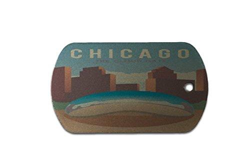 Hundemarke Erkennungsmarke Reisen Küche Chicago USA bedruckt Chicago Küche