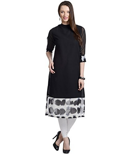 designer-black-georgette-3-4th-sleeve-round-neck-ankle-long-fabulous-kurtis-and-kurtas-gt-ktg-blw-l