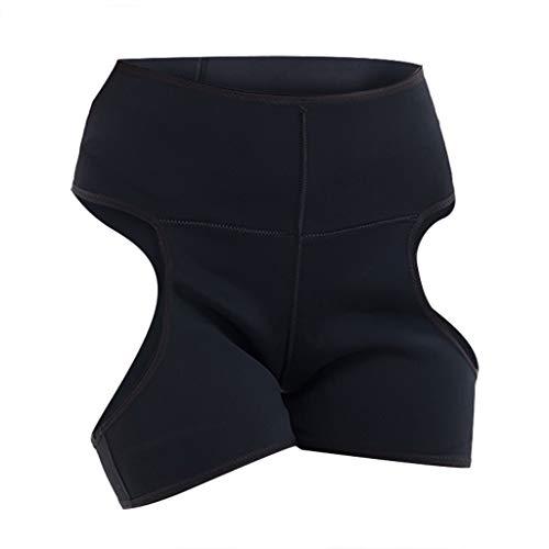 Plus Size Elasthan Slip (WUSIKY Plus Size Dessous HöSchen Sexy UnterwäSche Damen Erotik Underwear AushöHlen KöRperformung Hose (Schwarz,XXXL))