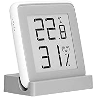 JIACUO Monitor de termómetro de Alta precisión con medidor de Humedad Digital de Pantalla