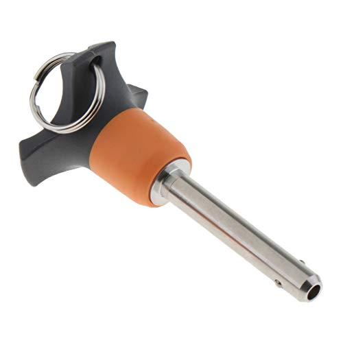 Almencla 1 Stück Schnellspanner Schnellverschluss Druckknopf Kugelsperrbolzen aus Edelstahl Top-Out-Typ 20mm - 35mm - Als Bild 30mm