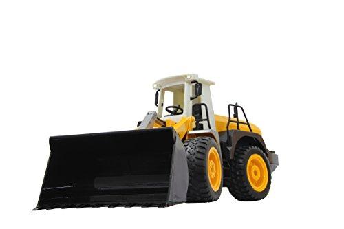 RC Auto kaufen Baufahrzeug Bild 6: Jamara 410005 - Radlader 440 1:20 2,4G - Schaufel heben / senken / abkippen, realistischer Motorsound (abschaltbar), programmierbare Funktionen, Blinker, Autoabschaltfunktion, 2 Radantrieb*