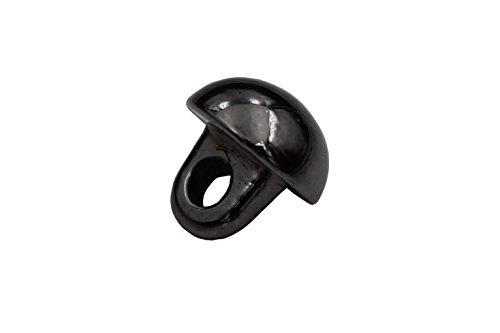 silber dunkel titan glänzend klein Metall Knöpfe Mini Halb Kugel Ösenknöpfe 6mm 10 Stück