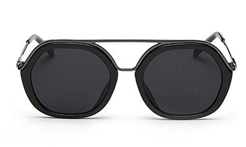 Europe And The United States Sunglasses Female Color Film Sunglasses Sunglasses Fashion Metal Double Beam Sunglasses