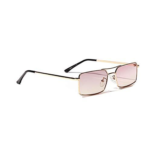cool show Rechteckige Sonnenbrille für Damen/Herren, kleiner Rahmen, Vintage-Stil, modische Farbtöne Gr. Einheitsgröße, C1