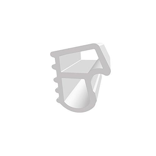 DIWARO® Stahlzargen-Dichtung SZ090 | weiß oder grau | 5 lfm für Haus- und Innentüren. Zum Schallschutz und abdichten der Tür. Bestehend aus TPE (Thermoplastischen Elastomer) (weiß)