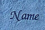 S.B.J - Sportland Duschtuch/Badetuch aus hochwertigem Frottee 70x140 cm Sylt taubenblau mit Namensbestickung/bestickt mit Namen oder Wunschtext, Stickfarbe dunkelblau 3323