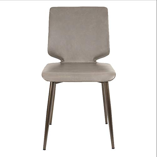 Iron Light Luxury Home Restaurant Stuhl Rückenlehne Schwarz Tisch Leder Hocker 82x43cm Material: Metall. Footstools