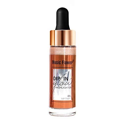 Best Sexy Gift! Beisoug Highlighter Makeup Concealer Gesichtsglühen Flüssiges Glühen Enhancer-Creme