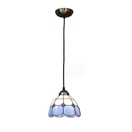 ACZZ Klassische 7 Zoll blau und weiß Pendelleuchten, hängende ResTaurant Lichter Gang Treppe Licht europäischen minimalistischen Licht Dekoration dekoriert Bar Kronleuchter