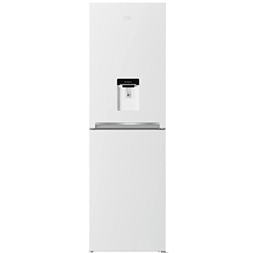 Beko CFG1582DW 166L Frost Free 50/50 Freestanding Fridge Freezer With Water Dispenser White