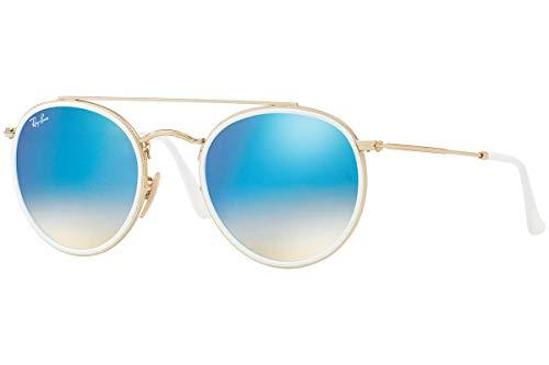 RAYBAN JUNIOR Unisex-Erwachsene Sonnenbrille Rb 3647n Gold/Gradientbrownmirrorblue 51