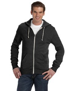 2008 Zip Hoodie (Men's Rocky Eco-Fleece Solid Zip Hoodie ECO BLACK XS)