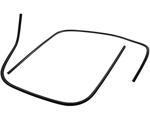 Preisvergleich Produktbild Monoschlitzrohr Beinschild SIP schwarz matt, Kunststoff, links + rechts für VESPA GTS Super Sport i.e. 300 ZAPM45200 4T LC 10-