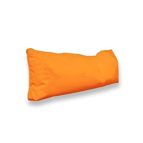 berlinpillow.de 4260406163365 Original Bean Bag In und Outdoor PalettenRückenkissen Pallets Bag, 70 x 30 x 10 cm, orange