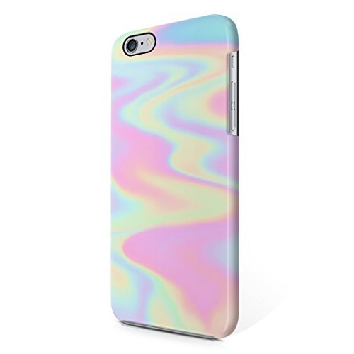 Buy cheap holographic tie dye rainbow colorful pastel rad indie boho tumblr hard plastic iphone phone case