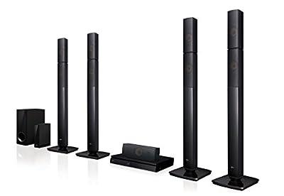 LG LHB655nw Système Home Cinéma avec Enceintes arrière sans Fil (3D Lecteur Bluray, DLNA, Smart TV, Bluetooth, 1000W, 5.1multiroom Sound Bar) Noir par LG