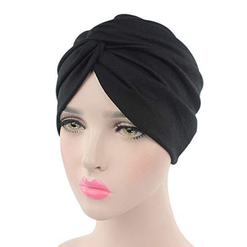 Ssowun Turban Chemo Hut Damen, Mützen Beanie Hüte Muslim Kopfbedeckung Headwraps Skull Cap Krebs Cap für Haarverlust Chemo Krebs Cap Chemotherapie EINWEG Verpackung