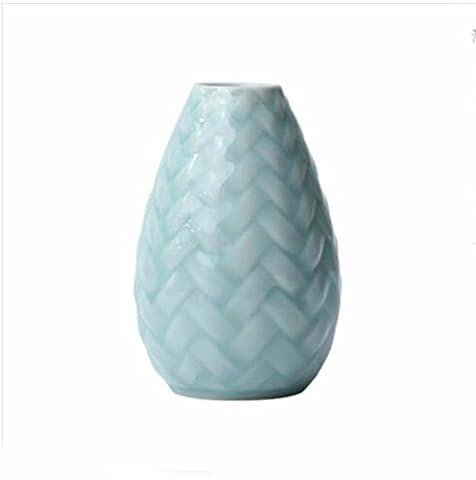 JRFBA L'Eau Douce D'Ameublement De Maison Des Ornements Mode Céladon Vase Céramique Du Vase De Petit Vase,B