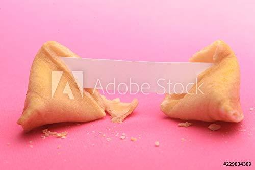 druck-shop24 Wunschmotiv: Broken Fortune Cookie with Blank Piece of Paper #229834389 - Bild als Foto-Poster - 3:2-60 x 40 cm / 40 x 60 cm (Paper Fortune Cookies)