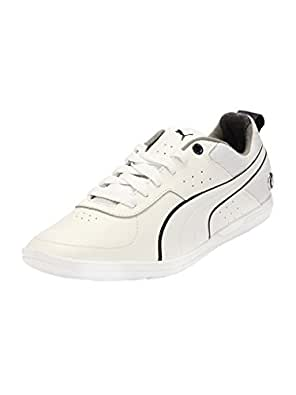 Puma Men's Bmw Ms Mch Lo Nm White and Heather Gray Leather Safety Shoes - 6 UK/India (39 EU)