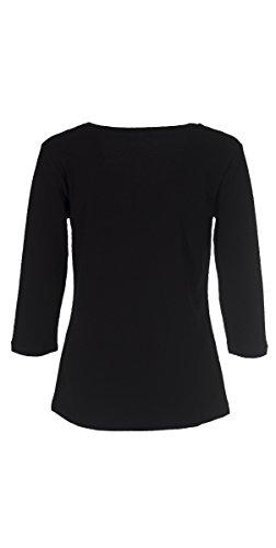Coline - Tee shirt femme manches 3/4 Noir