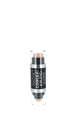 Technic Conceal and Blend Full Coverage Concealer with Blending Sponge-Medium