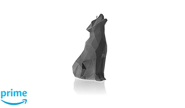 Candellana Candles Candellana-Wolf Candle Gray 5902815468974
