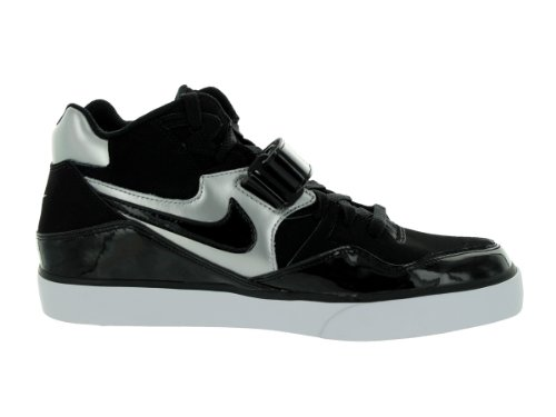 nike auto 180 mid force Herren Turnschuh 375579 Schuhe Sneaker black black metallic silver white 004