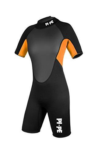 PI-PE Damen Neoprenanzug Pro Spring Short Sleeve Orange, M
