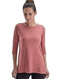 Proyog Womens Yoga 3/4th Sleeve Top Kurta Style Organic Cotton Modal