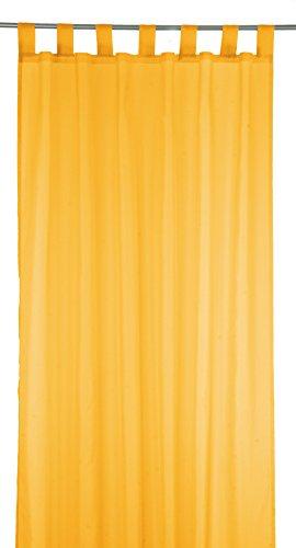 Schlaufengardine Dekoschal Gardine Vorhang Schlaufenschal Deko fürs Wohn- oder Schlafzimmer UNI - 140 x 245 cm - in den Farben Orange - von Brandseller