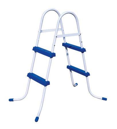 Bestway Escalera 2 peldaños de piscina 84 cm altura-Peso: 5,6 kg.