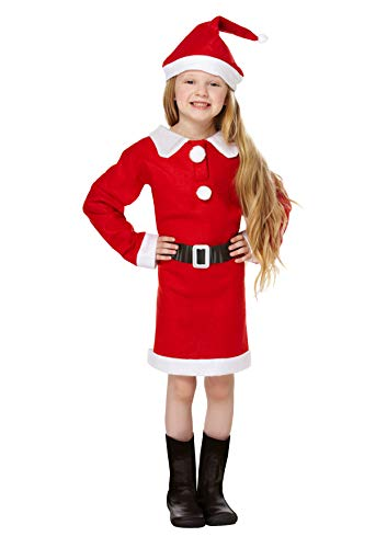 Für Awesome Kostüm Kleinkind - christmasshop Weihnachtskrippe Mädchen Santa Kostüm Kostüm - Red/White - 46