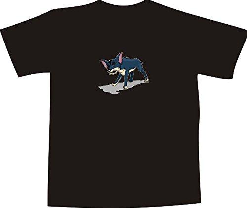 T-Shirt E906 Schönes T-Shirt mit farbigem Brustaufdruck Farbe nach Wahl XXL - Logo / Grafik - Comic Design - aggressiver Wolf in der Nacht (T-shir Wolf)