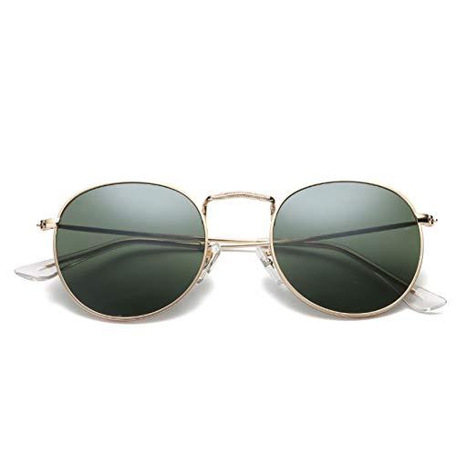 GJYANJING Sonnenbrille Mode Oval Sonnenbrille FrauenKleine Metallrahmen Steampunk Retro Sonnenbrille Weibliche Sonnenbrille Uv400